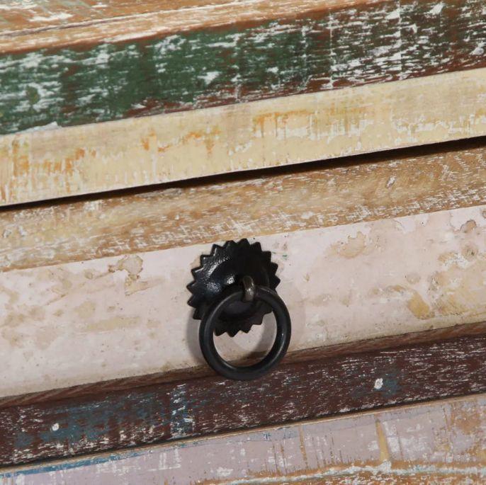 Console 2 tiroirs bois massif recyclé Moust - Photo n°2