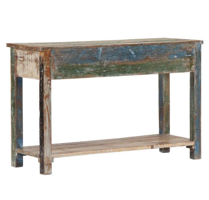 Console 2 tiroirs bois massif recyclé Moust - Photo n°4