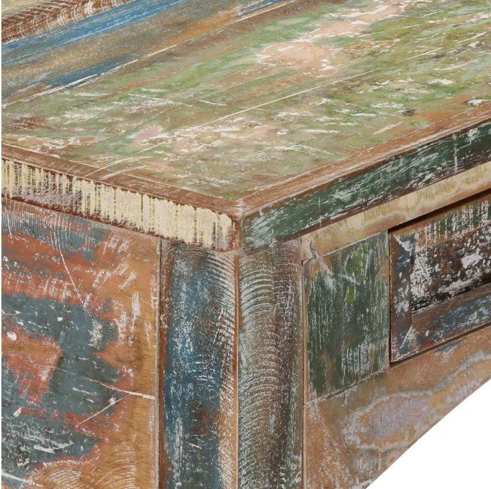 Console 2 tiroirs bois massif recyclé Moust - Photo n°6