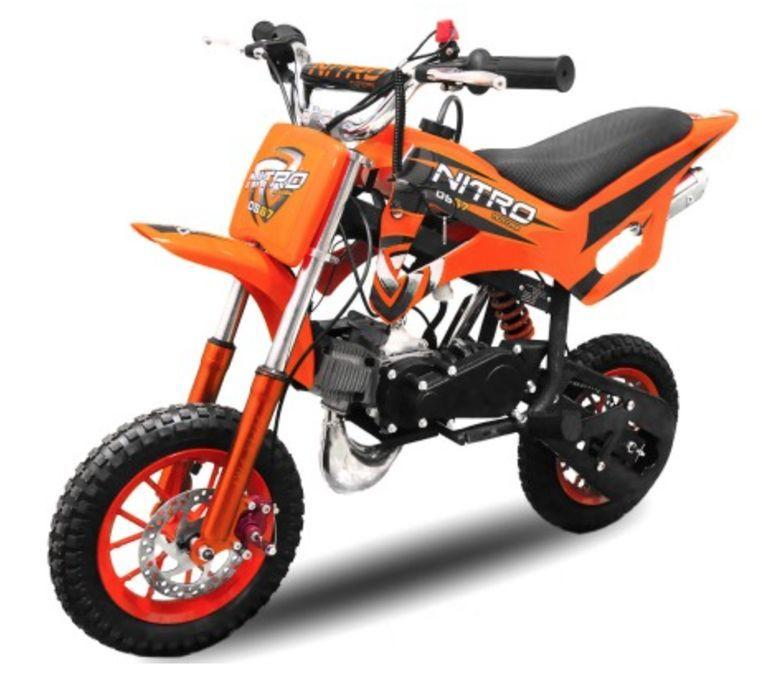 Dirt Bike 49cc orange DS67 7/7 - Photo n°1