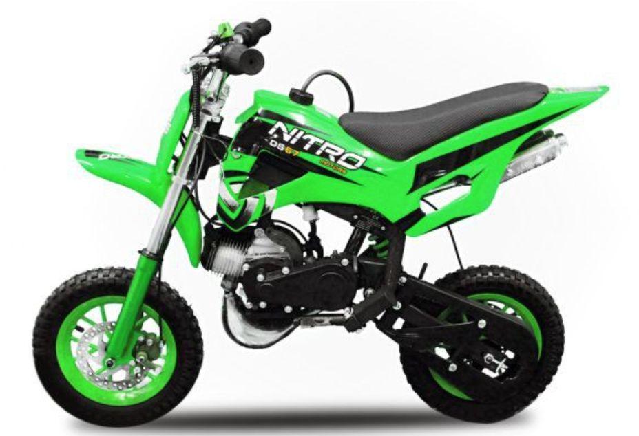 Dirt Bike 49cc vert DS67 7/7 - Photo n°1