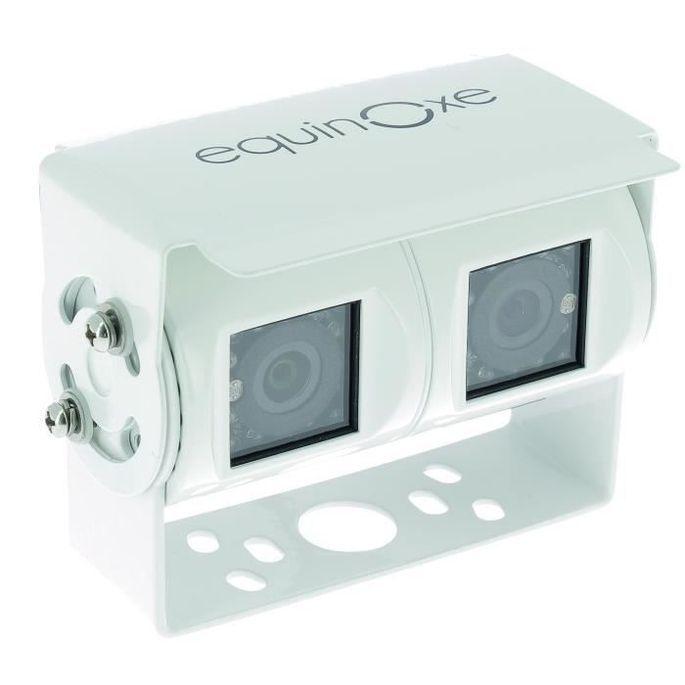 EQUINOXE Caméra de recul - Filaire double - Blanc - Photo n°1