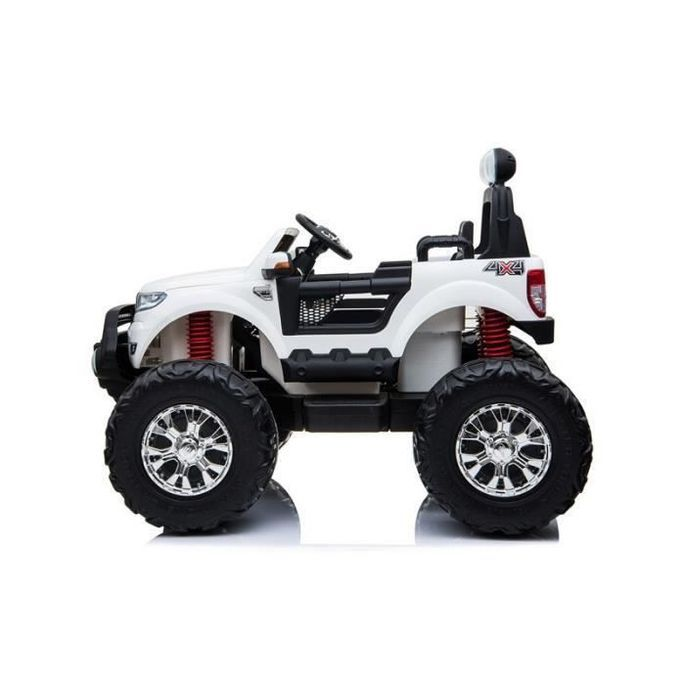 EROAD - Ford Ranger Monster Truck 2 places 4X4 Blanc - 2 places - 12V - Roues gomme - MP3 - Radio FM - Bluetooth - Photo n°2