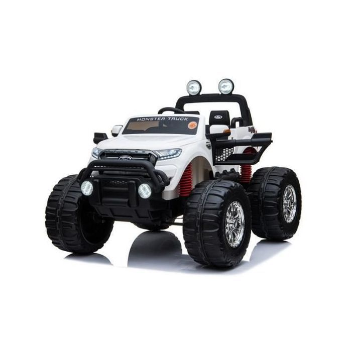 EROAD - Ford Ranger Monster Truck 2 places 4X4 Blanc - 2 places - 12V - Roues gomme - MP3 - Radio FM - Bluetooth - Photo n°4