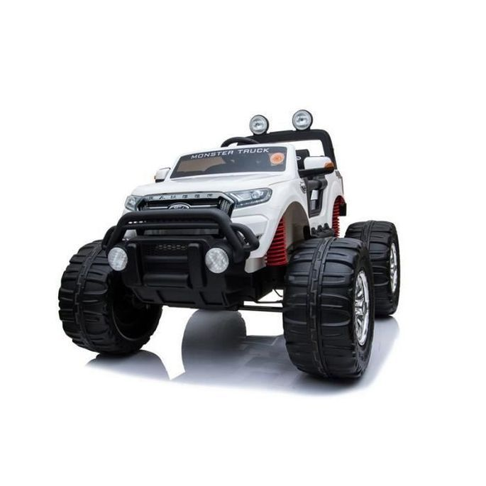 EROAD - Ford Ranger Monster Truck 2 places 4X4 Blanc - 2 places - 12V - Roues gomme - MP3 - Radio FM - Bluetooth - Photo n°5