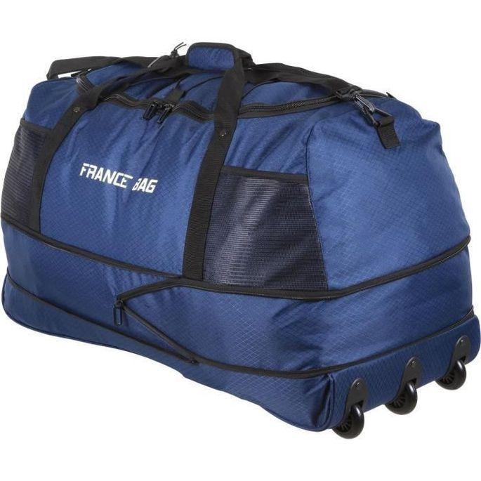 FRANCE BAG Sac de Voyage Pliable XXL Polyester 81cm Bleu Marine - Photo n°2