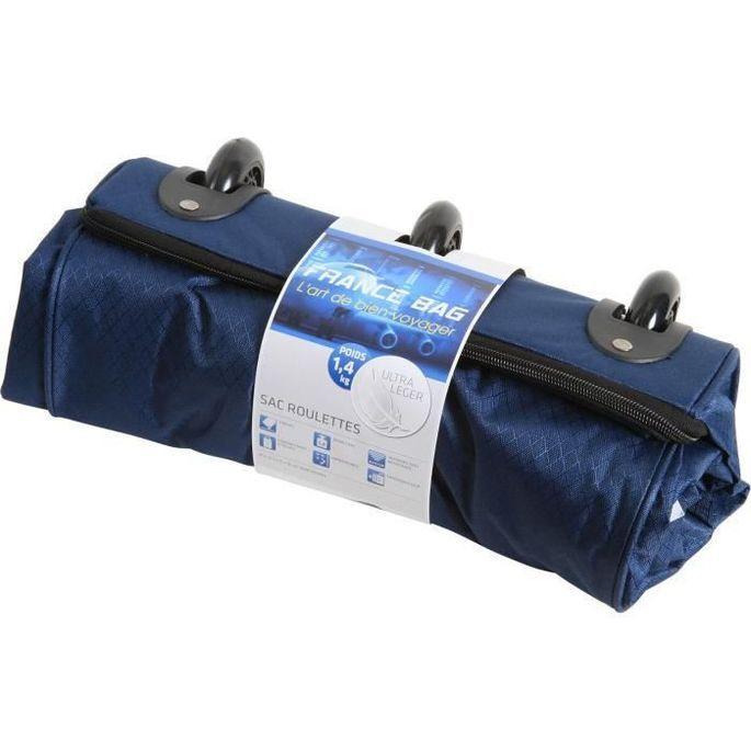 FRANCE BAG Sac de Voyage Pliable XXL Polyester 81cm Bleu Marine - Photo n°3