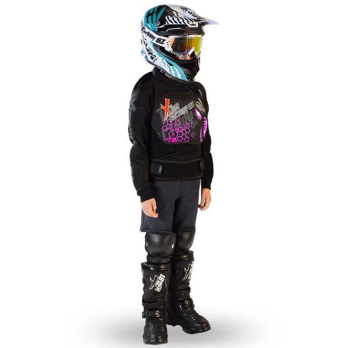 Gilet de protection enfant pour moto et quad rose Xtm factory - Photo n°1