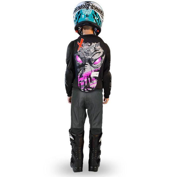 Gilet de protection enfant pour moto et quad rose Xtm factory - Photo n°2