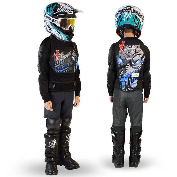 Gilet de protection enfant pour moto et quad rose Xtm factory - Photo n°4