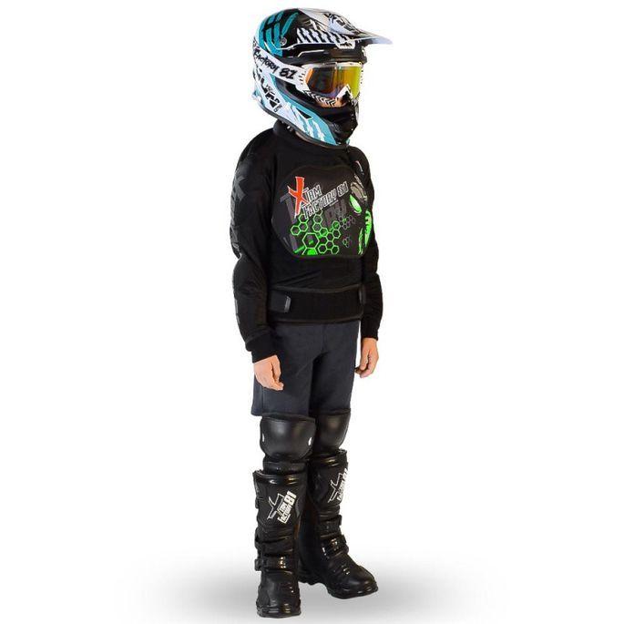 Gilet de protection enfant pour moto et quad vert Xtm factory - Photo n°1