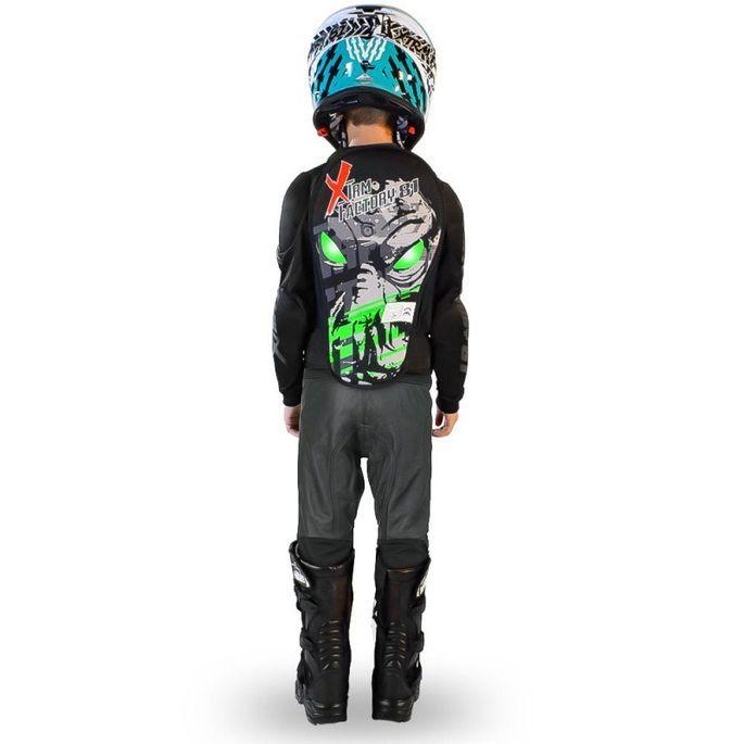 Gilet de protection enfant pour moto et quad vert Xtm factory - Photo n°2