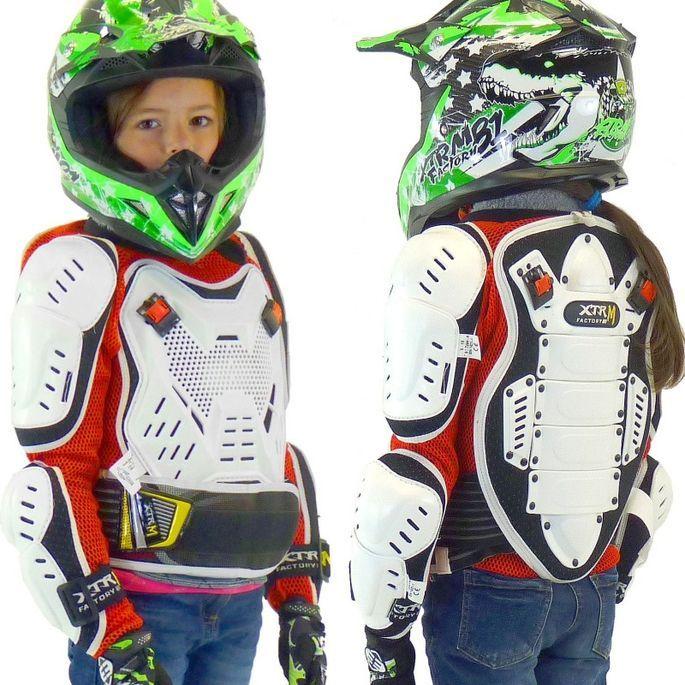 Gilet de protection rigide enfant pour moto et quad XTRM - Photo n°2