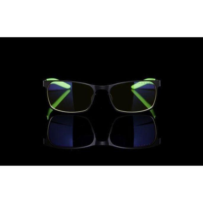 Gunnar & Razer - FPS - Lunettes gamer anti lumiere bleue - Monture noire et verte verres ambrés - filtrent 65% - Photo n°3