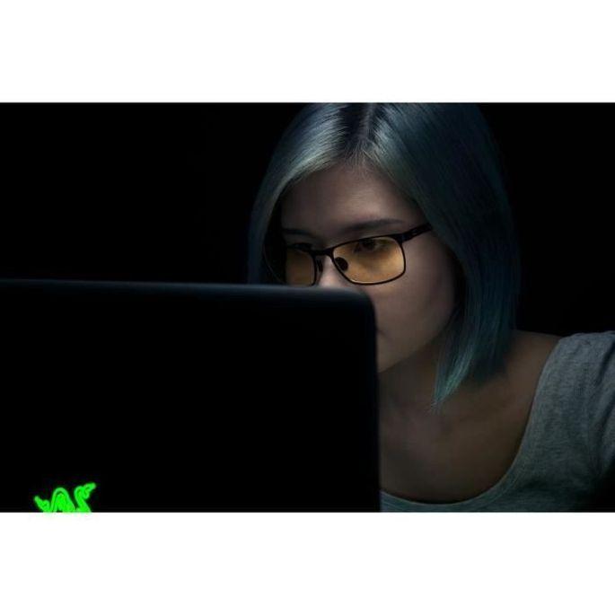 Gunnar & Razer - FPS - Lunettes gamer anti lumiere bleue - Monture noire et verte verres ambrés - filtrent 65% - Photo n°6