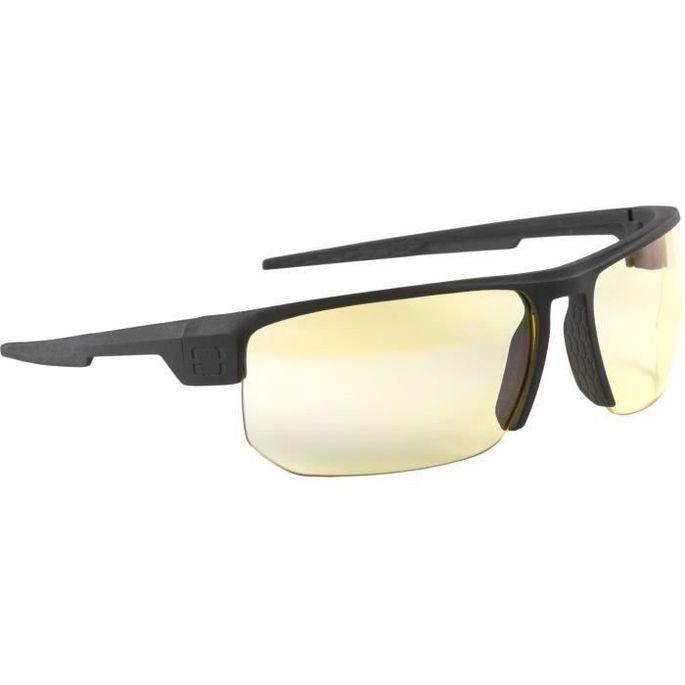 Gunnar - Torpedo Onyx - Lunettes prog gamer - Monture noire adapté au casque grand champ visuel et verres ambrés - filtrent 65% - Photo n°1