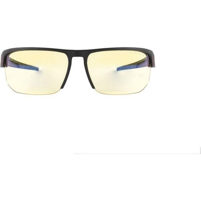 Gunnar - Torpedo Onyx - Lunettes prog gamer - Monture noire adapté au casque grand champ visuel et verres ambrés - filtrent 65% - Photo n°3