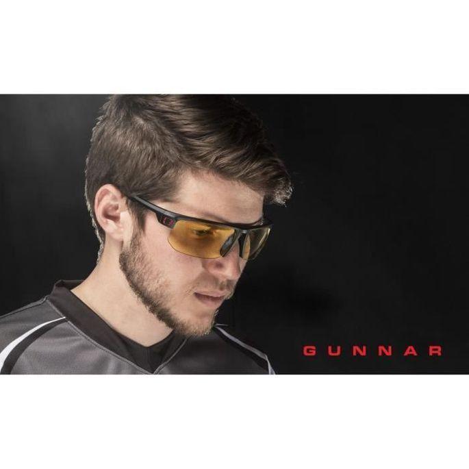 Gunnar - Torpedo Onyx - Lunettes prog gamer - Monture noire adapté au casque grand champ visuel et verres ambrés - filtrent 65% - Photo n°4