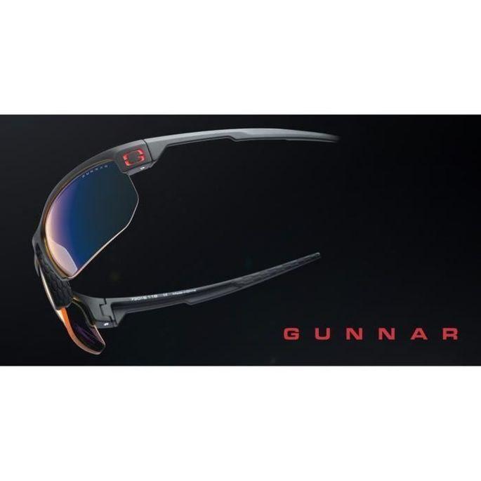 Gunnar - Torpedo Onyx - Lunettes prog gamer - Monture noire adapté au casque grand champ visuel et verres ambrés - filtrent 65% - Photo n°5