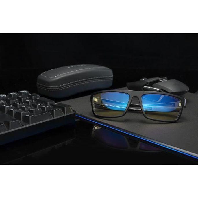 Gunnar - Valve Onyx - Lunettes gaming - Monture noire souple et légere et verres ambrés - filtrent 65% + réduction fatigue visuelle - Photo n°4