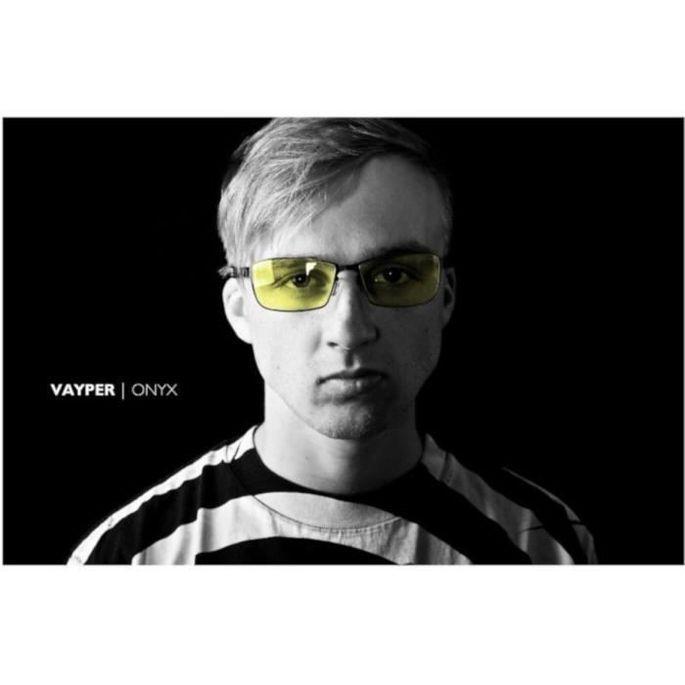 Gunnar - Vayper Lunettes gamer - Monture noire fine souple et verres ambrés - filtrent 65% + réduction fatigue visuelle - Photo n°4