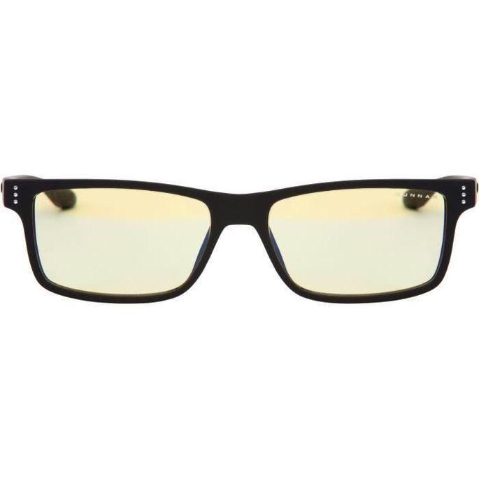 Gunnar - Vertex Onyx - Lunettes anti lumiere bleue - Monture noire et verres ambrés - filtrent 65% + réduction fatigue visuelle - Photo n°3