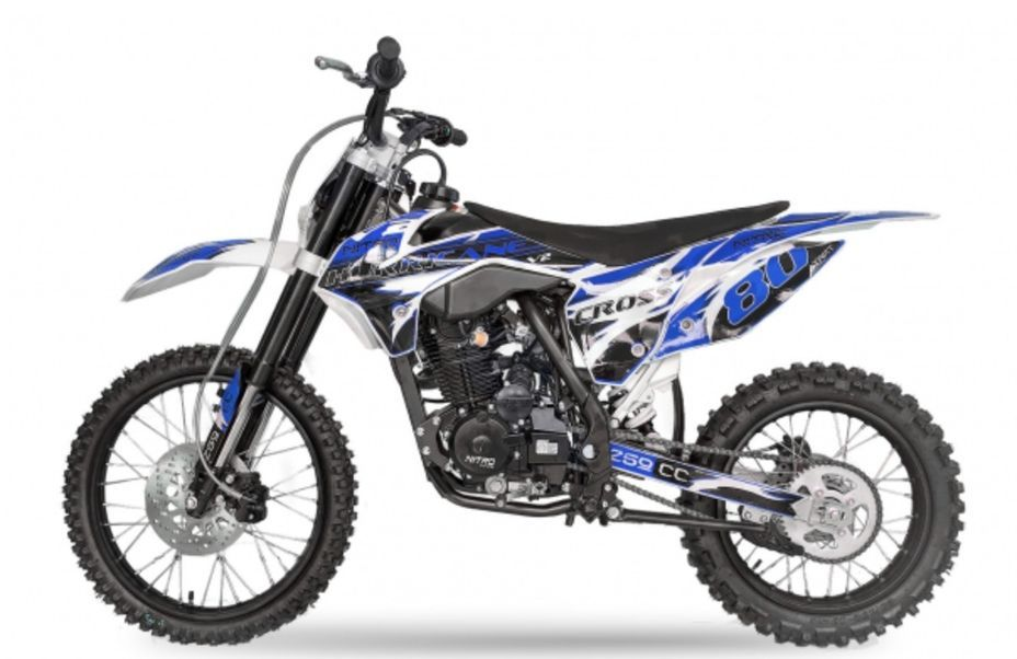 Hurricane 250cc bleu 19/16 pouces Dirt bike nouvelle version - Photo n°1