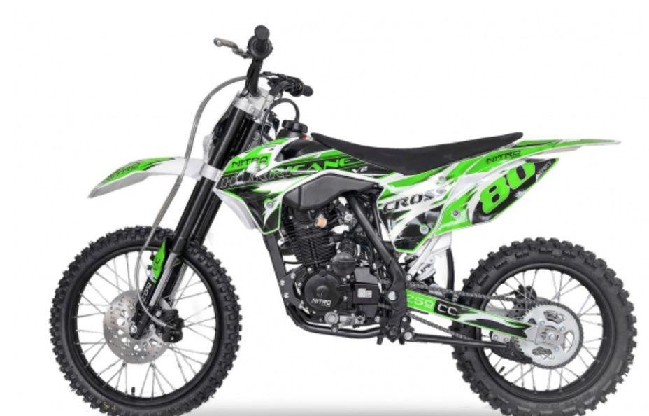 Hurricane 250cc vert 19/16 pouces Dirt bike nouvelle version - Photo n°1