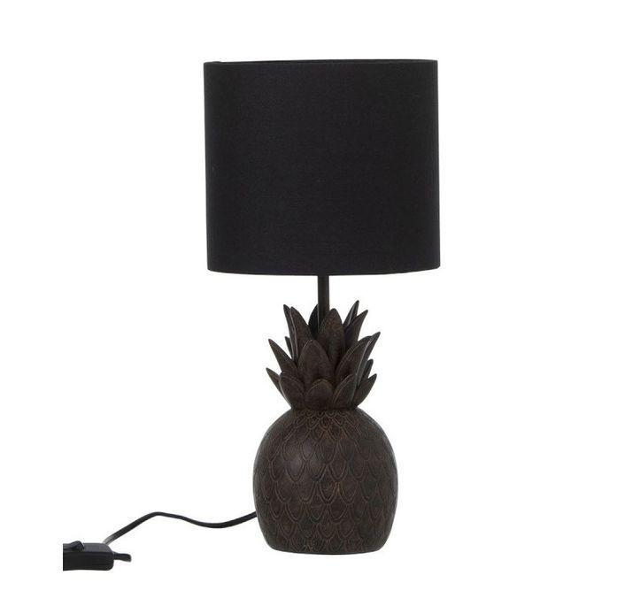 Lampe de table ananas résine marron Narsh - Photo n°1
