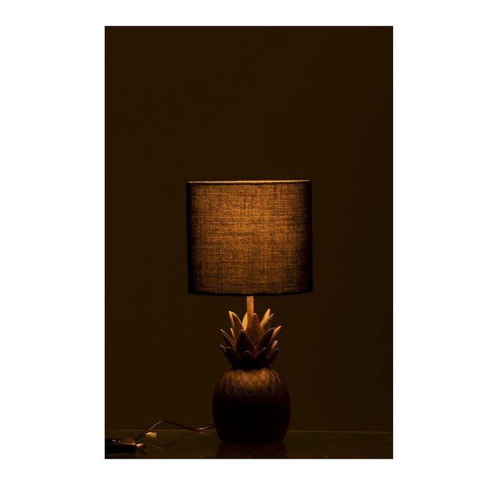 Lampe de table ananas résine marron Narsh - Photo n°3