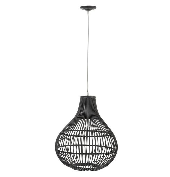 Lampe suspension bambou noir Narsh - Lot de 2 - Photo n°1