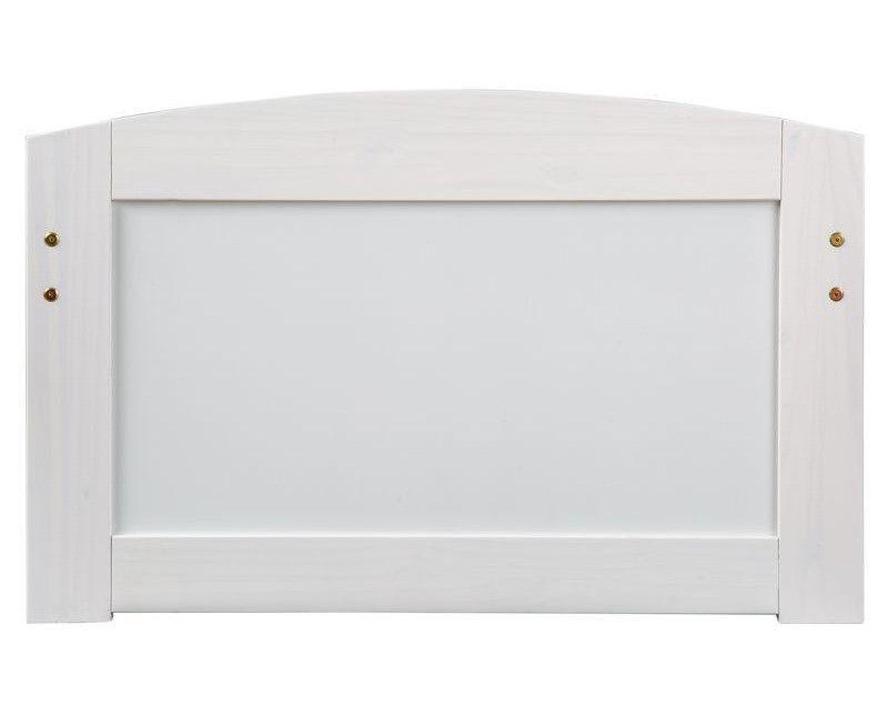 Lit banquette 4 tiroirs pin massif blanc Zara 90x200 cm - Photo n°4