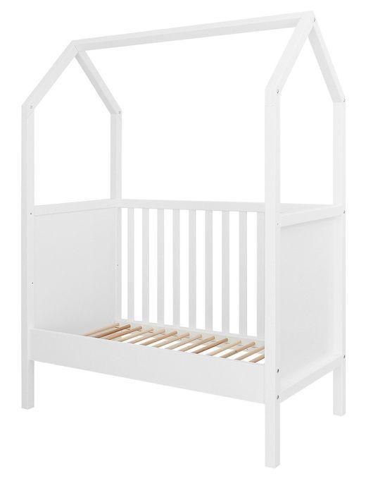 Lit bébé transformable hêtre blanc My First House 60x120 cm - Photo n°4