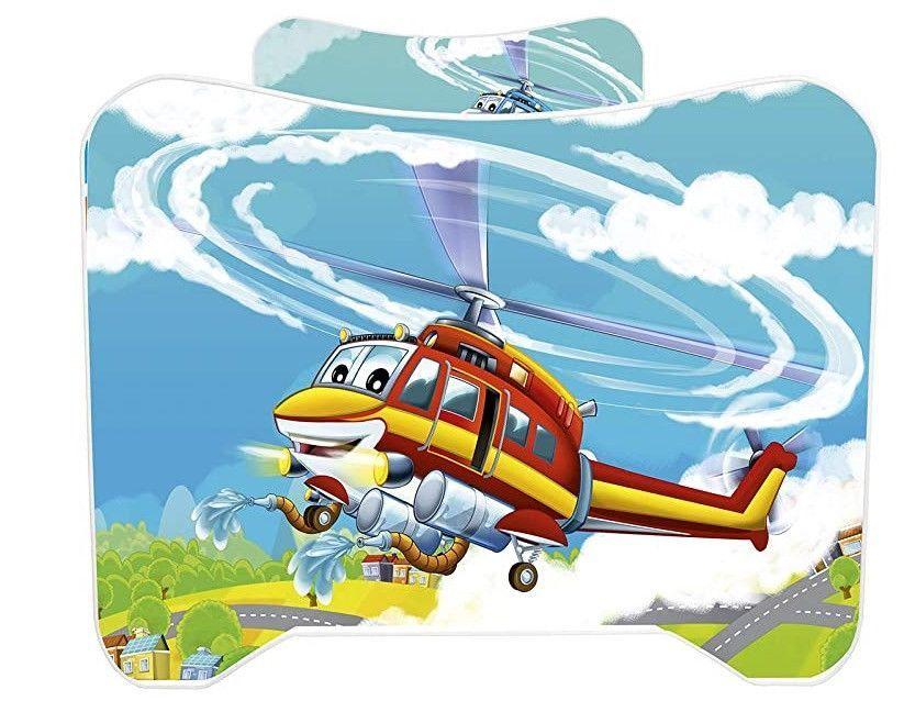 Lit enfant avec matelas Hélicoptère 70x140 cm - Photo n°5
