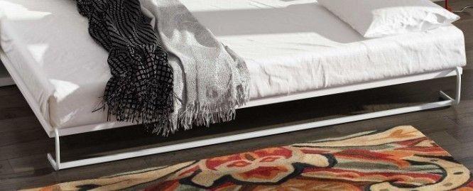 Lit escamotable 150x190 cm avec canapé coffre tissu Espacia - Photo n°15