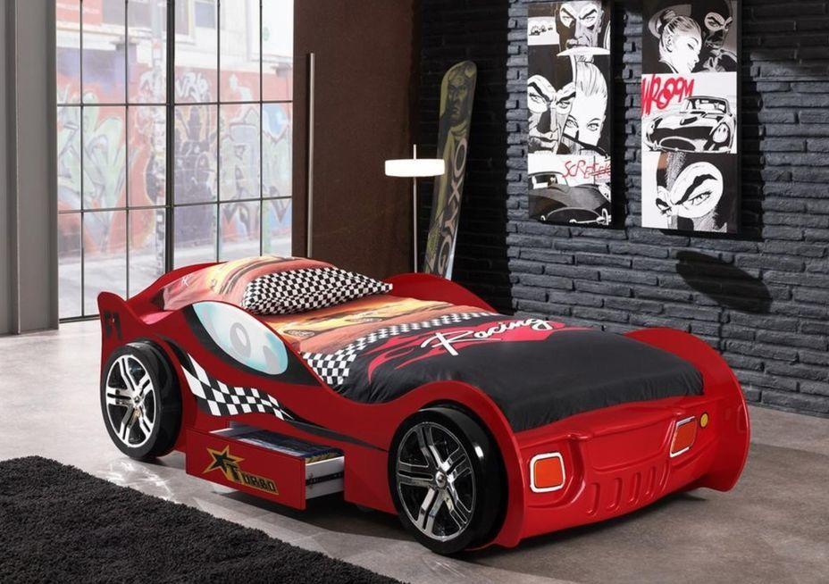 Lit voiture à tiroir rouge Turbo 90x200 cm - Photo n°2