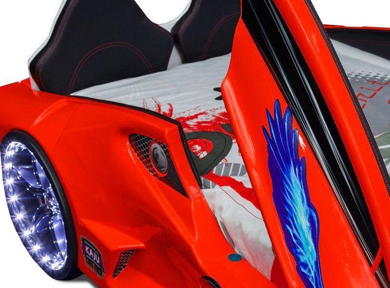 Lit voiture turbo V7 rouge à Led 90x190 cm - Photo n°2
