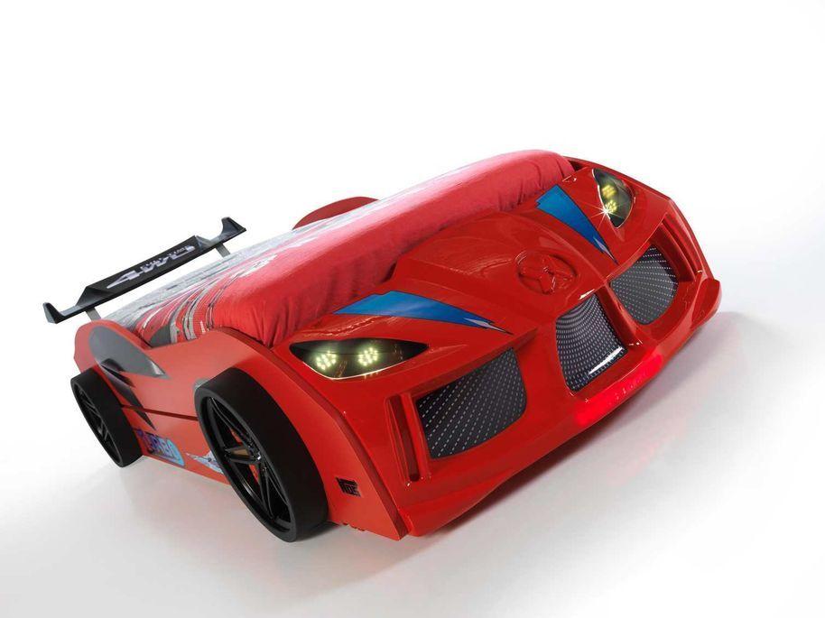 Lit voiture de course double couchage 90x190 cm Racing rouge - Photo n°5