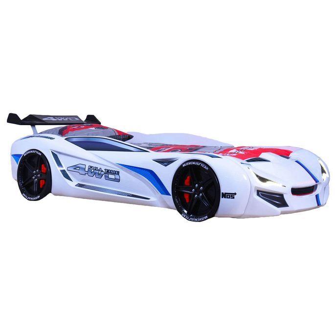 Lit voiture de course turbo V1 rouge 90x190 cm - Photo n°5