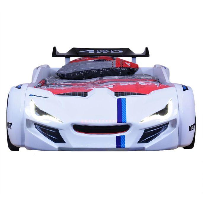 Lit voiture de course turbo V1 rouge 90x190 cm - Photo n°6