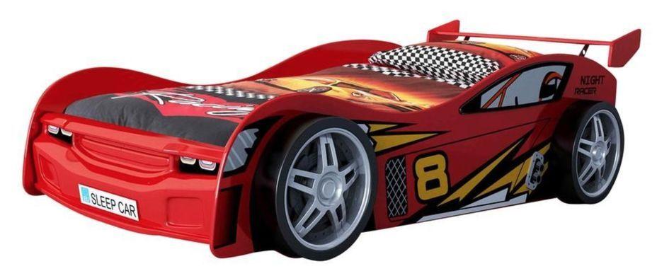 Lit voiture rouge Race 90x200 cm - Photo n°1