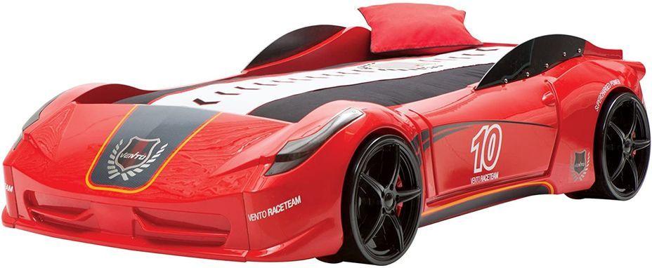 Lit voiture de sport rouge à Led avec effets sonores Racing 90x190 cm - Photo n°4