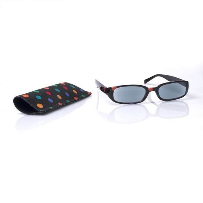 Lunettes loupe x2.5 grossissantes VITAEASY monture pois couleur verres solaire - Dioptrie +2.5 - UV400 - Photo n°1