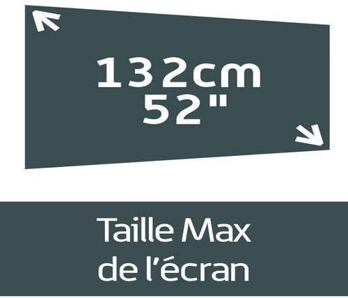 Meuble TV suspendu Studio 110 verre infrarouge et bois mélaminé mat noir - Photo n°6