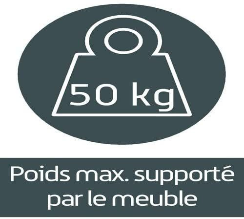 Meuble TV suspendu Studio 110 verre infrarouge et bois mélaminé mat noir - Photo n°7
