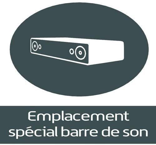 Meuble TV suspendu Studio 110 verre infrarouge et bois mélaminé mat noir - Photo n°9