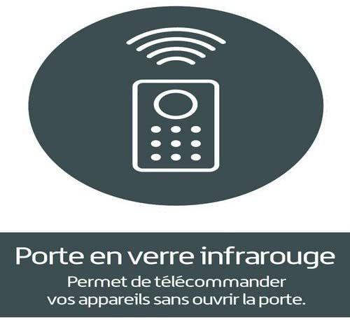 Meuble TV suspendu Studio 110 verre infrarouge et bois mélaminé mat noir - Photo n°11
