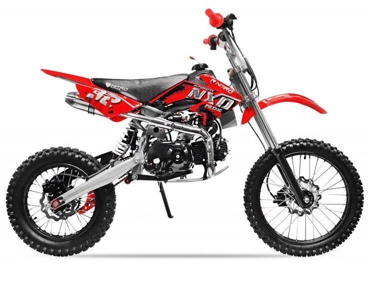 Moto cross 125cc automatique 17/14 rouge Sprinter - Photo n°1