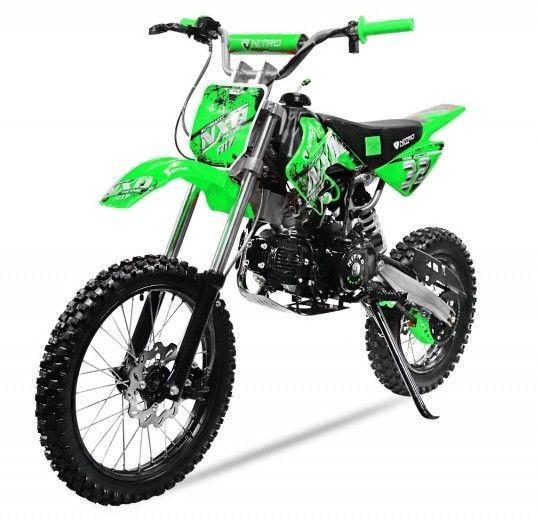 Moto cross 125cc automatique 17/14 vert Sprinter - Photo n°2