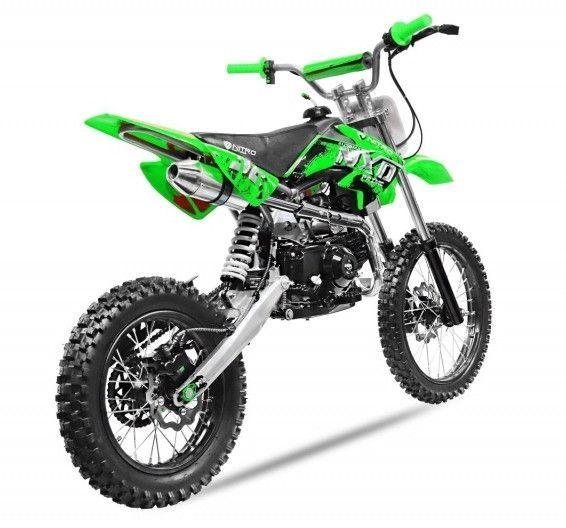 Moto cross 125cc automatique 17/14 vert Sprinter - Photo n°3